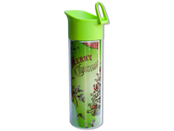 15 oz. Green HOLIDAY Double Wall Water Bottle