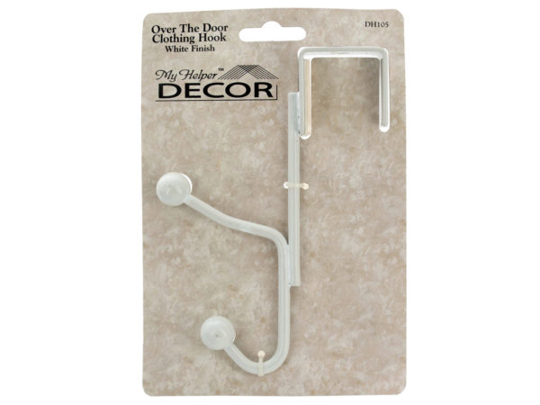 White Over the Door CLOTHING Hook