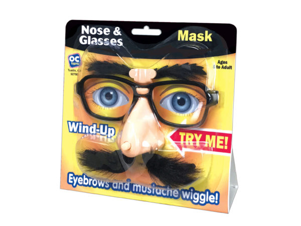 Wind-Up Wiggly Nose & GLASSES Mask