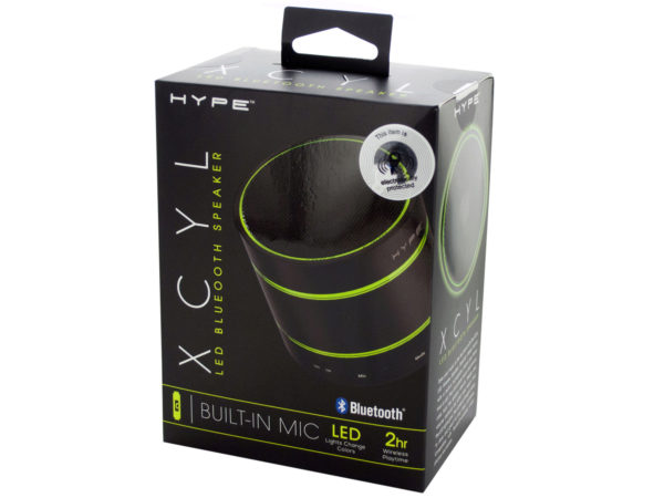 Hype XCYL LED Bluetooth Speaker with Built-In Mic