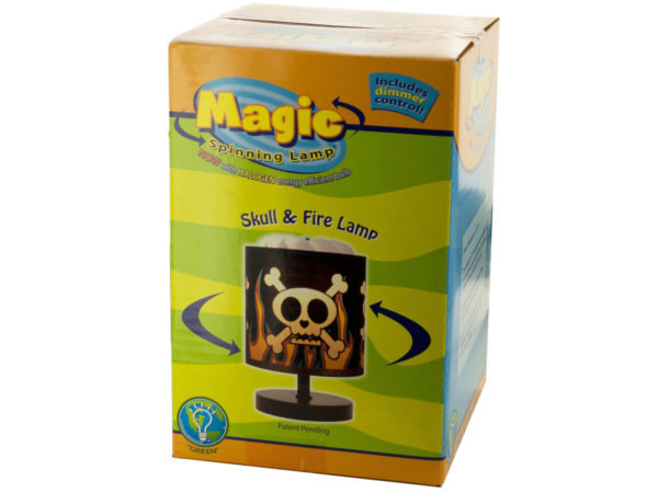 Skull & Fire Magic Spinning LAMP with Dimmer Control