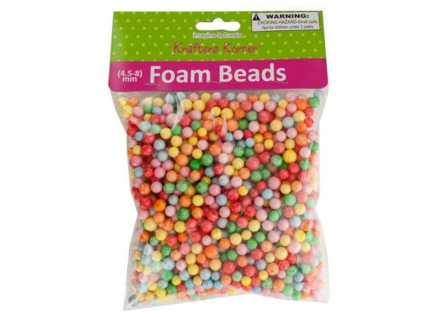 Large Multi-Colored Foam Craft Beads