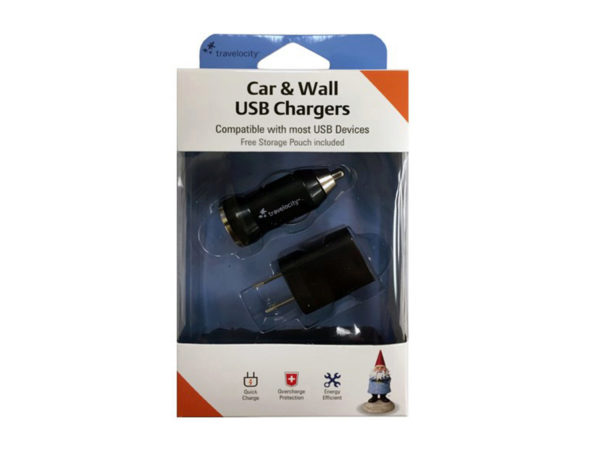 Travelocity Car & Wall USB Chargers Set