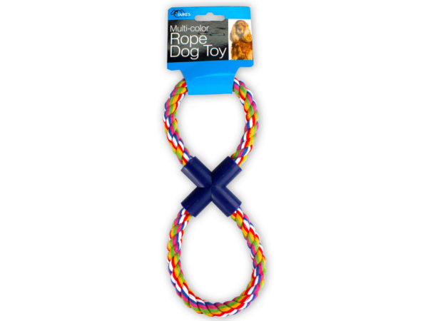 Figure 8 Multi-Colored Rope Dog TOY