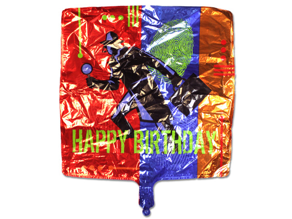 Secret Agent Mylar Happy Birthday BALLOON