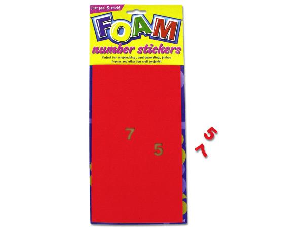 Foam Number STICKERS
