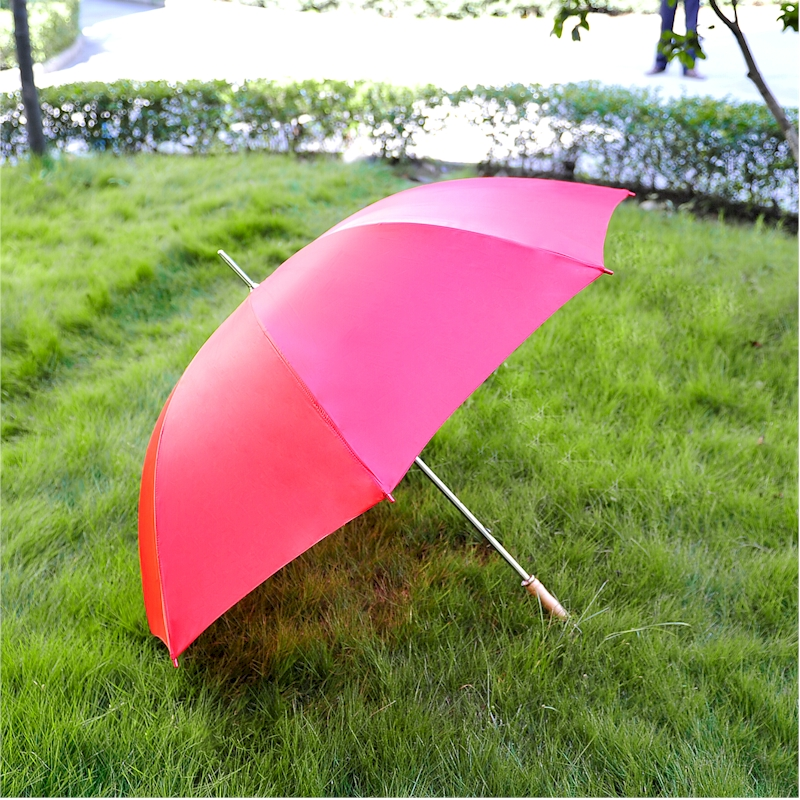 60 Inch Solid Red Windproof UMBRELLA