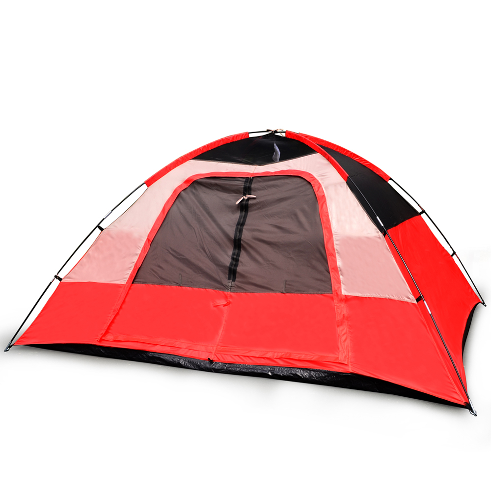 ''5 Person CAMPING TENT, Red/Gray or Blue/Gray''