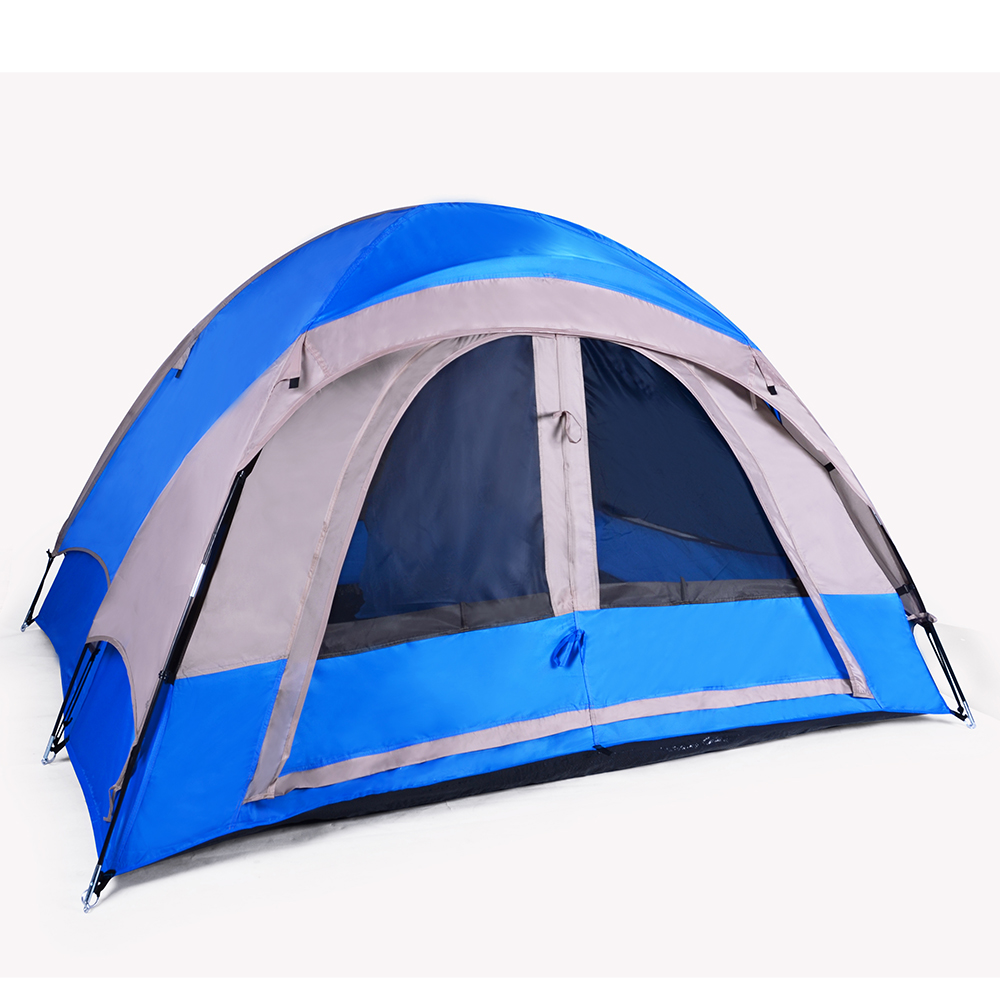 3-Person Blue/Gray or Red/Gray CAMPING TENT