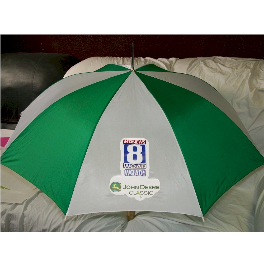 Green/White Custom Print UMBRELLA for Advertising