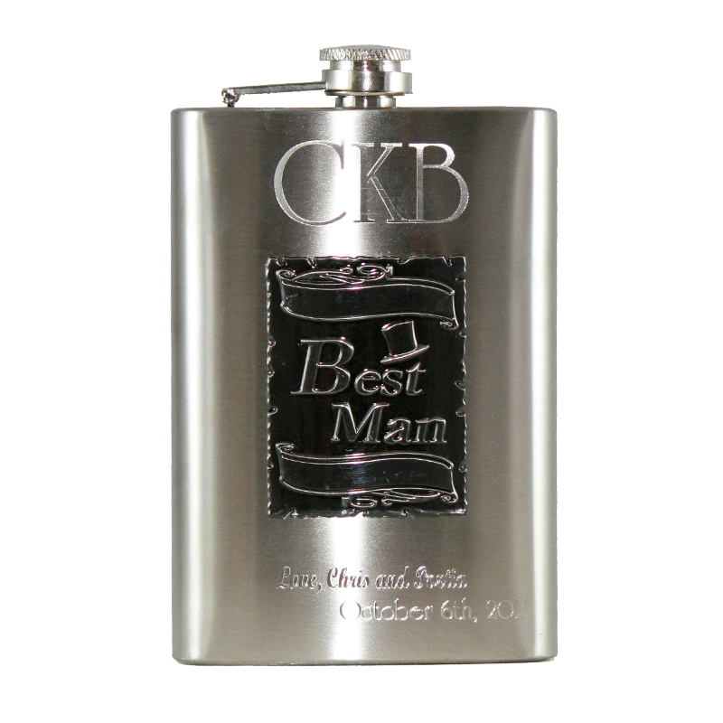 Custom Engraved Best Man WEDDING Flasks